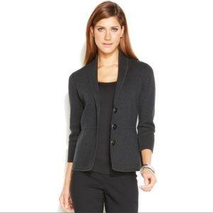 Alfani Shawl Collar Button Front Knit Jacket